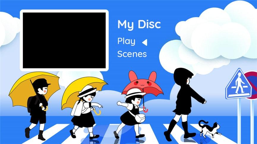 DVDメニューテンプレート:メモリー4