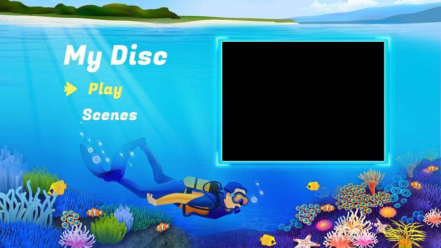 DVDメニューテンプレート:旅行4
