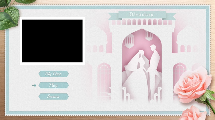 DVDメニューテンプレート:結婚式3