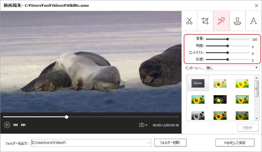 DVD Memory(Windows版)での動画編集-動画の微調整