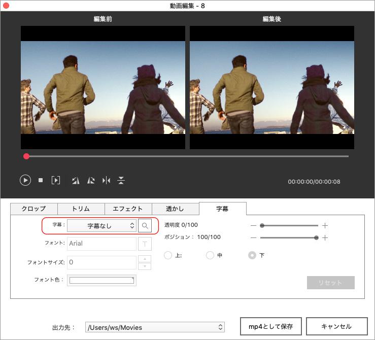 DVD Memoryで動画を編集する方法-字幕の追加