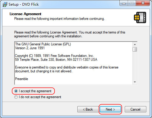 DVD Flickのインストール