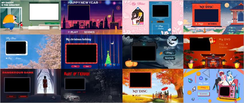 Mac(Mac OS 10.14 Mojaveを含む)で写真や動画をDVDに焼くソフトと方法-DVDメニューテンプレート