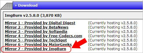 ImgBurnの安全ダウンロードと使い方-ImgBurnのダウンロード