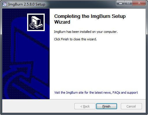 ImgBurnのダウンロード