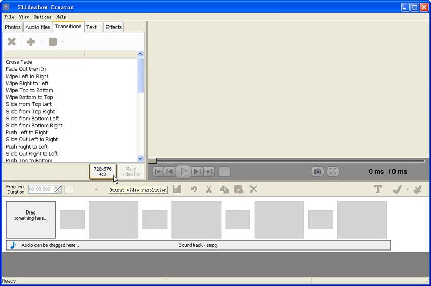 スライドショー作成ソフト-Bolide Slideshow Creator