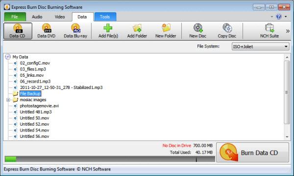 Mac用ブルーレイ書き込みソフト-Express Burn