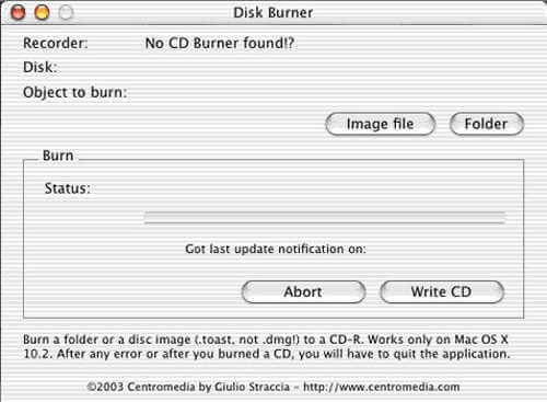 Disk Burner for Mac