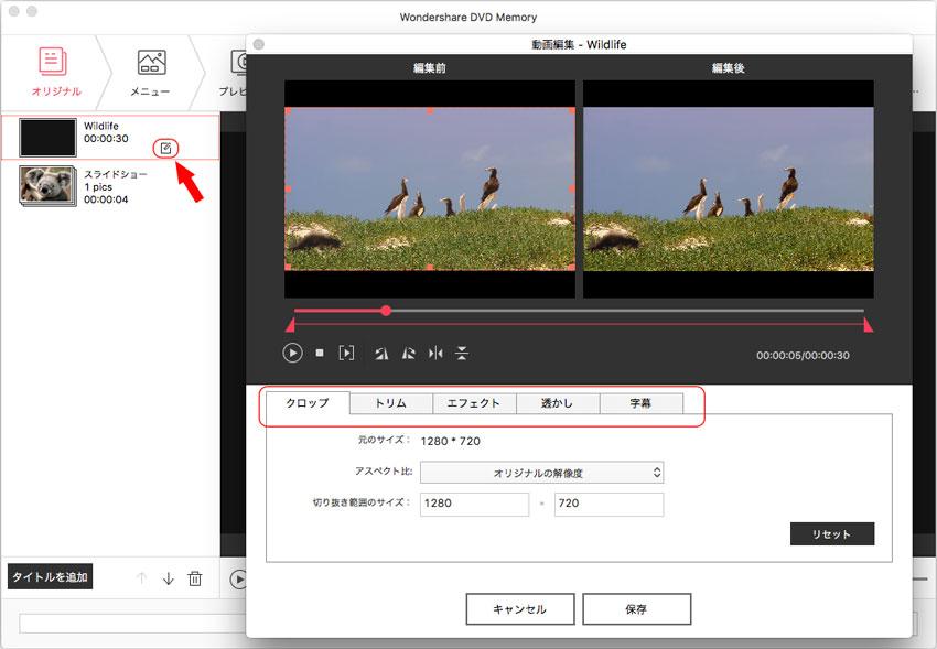 MP4動画の編集